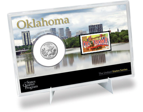 Oklahoma State Quarter & Stamp Set