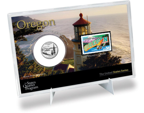 Oregon State Quarter & Stamp Set