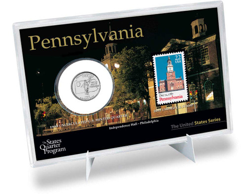 Pennsylvania State Quarter & Stamp Set