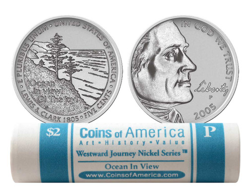 2005 Ocean In View P Mint Nickel Roll