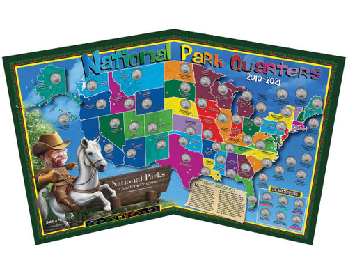 National Parks Tour Quarter Map (Kids)
