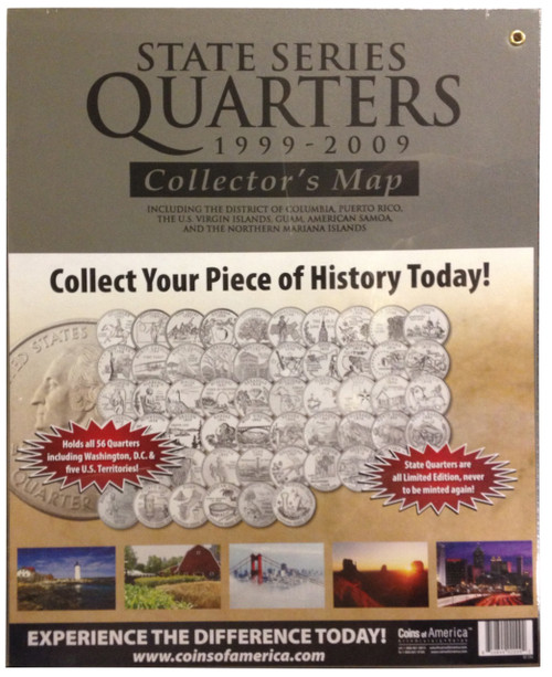 State Quarter Map Coins Of America - Us quarter collector map