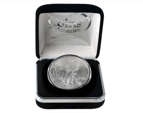 1996 Silver Eagle In Velvet Box