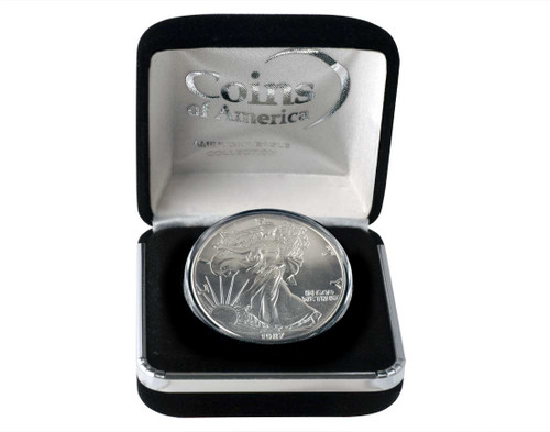 1987 Silver Eagle In Velvet Box