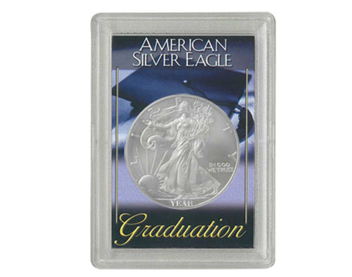 Silver American Eagle Graduation Case