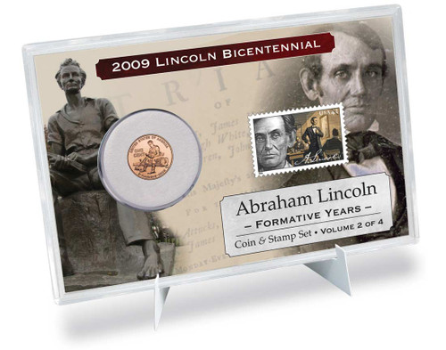 Lincoln Formative Years Coin & Stamp Set