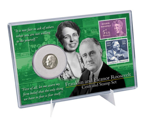 Franklin & Eleanor Roosevelt Coin And Stamp Set