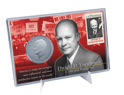 Eisenhower Coin & Stamp Set