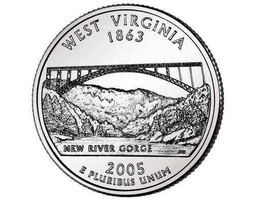 2005 West Virginia Quarter D Mint