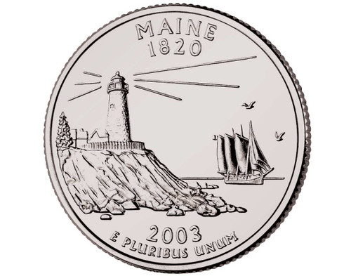 2003 Maine Quarter P Mint