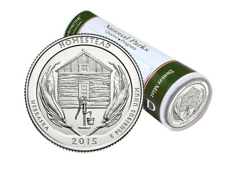 Homestead National Monument D Mint Quarter Roll
