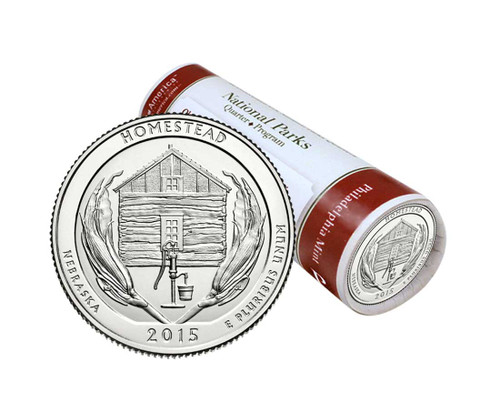 Homestead National Monument P Mint Quarter Roll