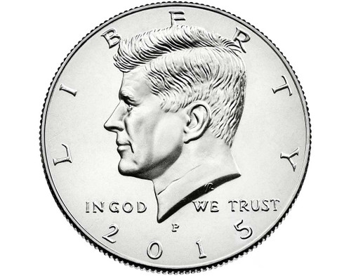 "2015 Kennedy Half Dollar ""P"" Roll"