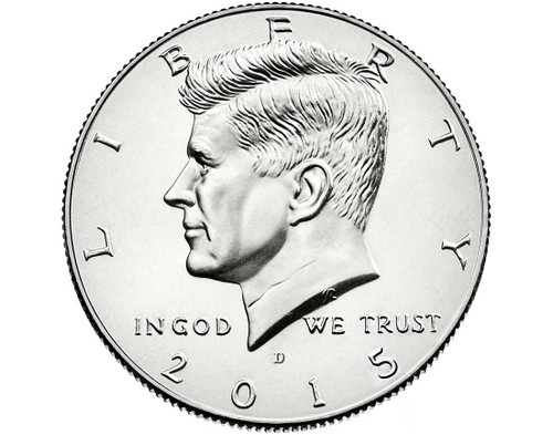 "2015 Kennedy Half Dollar ""D"" Roll"