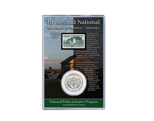Homestead National Monument Coin & Stamp Set