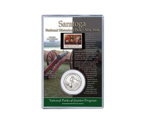 Saratoga National Historical Park Coin & Stamp Set