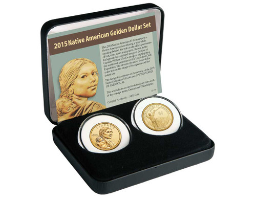 2015 Native American Dollar 2 Coin Set