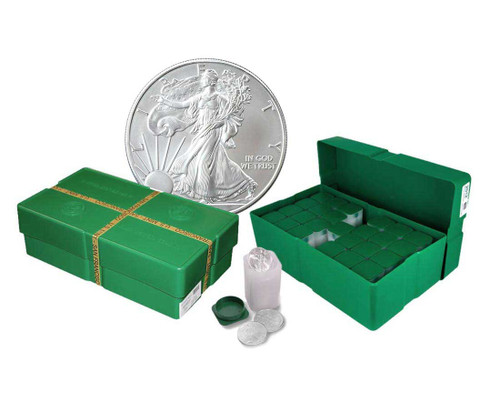 Empty Silver Eagle Monster Box with 25 Tubes (Holds 500 Coins)