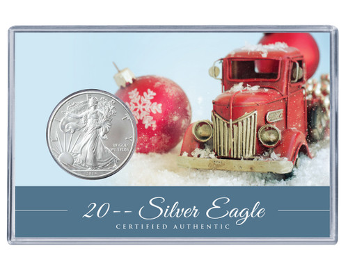 Christmas Silver Eagle Acrylic Display - Truck