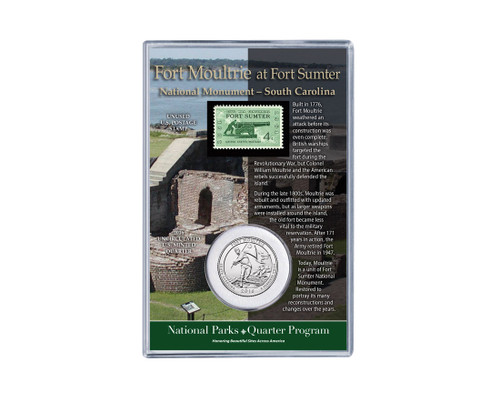 Fort Moultrie National Monument Coin & Stamp Set