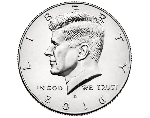 "2016 Kennedy Half Dollar ""D"" Roll"