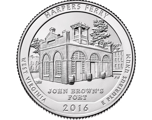 Harpers Ferry National Historical Park Quarter P Mint - 2016