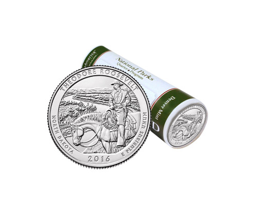 Theodore Roosevelt National Park D Mint Quarter Roll