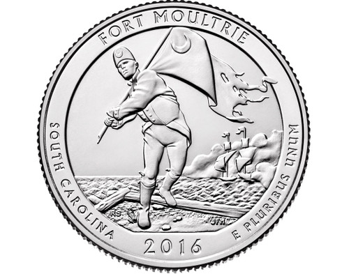 Fort Moultrie (Fort Sumter) National Park Quarter P Mint - 2016