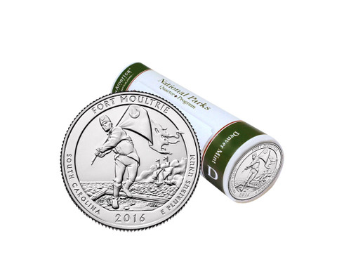 Fort Moultrie (Fort Sumter) National Park D Mint Quarter Roll