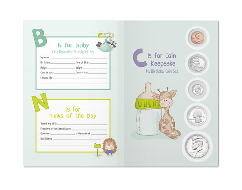 Baby Birthyear Coin Set Keepsake - 2016 Coins Included
