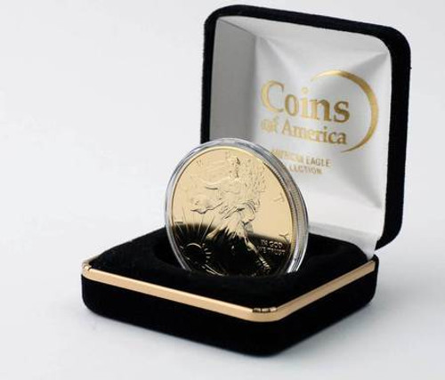 2017 Gold Plated Eagle in Velvet Box