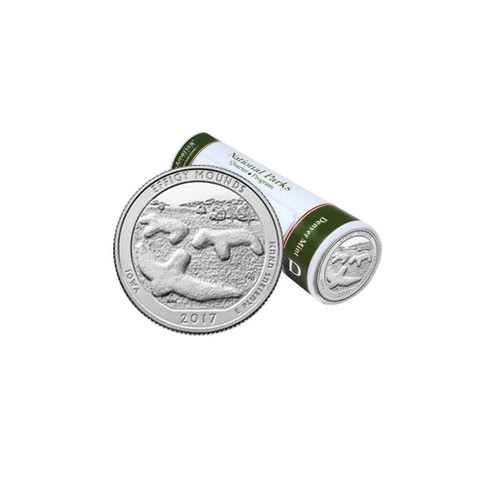 Effigy Mounds National Park D Mint Quarter Roll