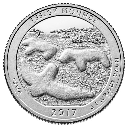 Effigy Mounds National Monument Quarter D Mint - 2017
