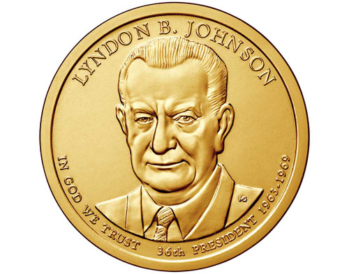 Lyndon B. Johnson $1 P Mint Single Coin