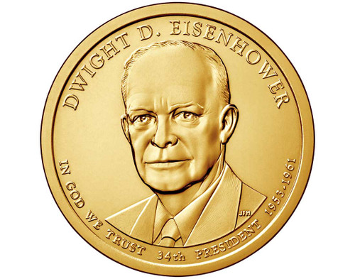 Dwight D. Eisenhower $1 P Mint Single Coin