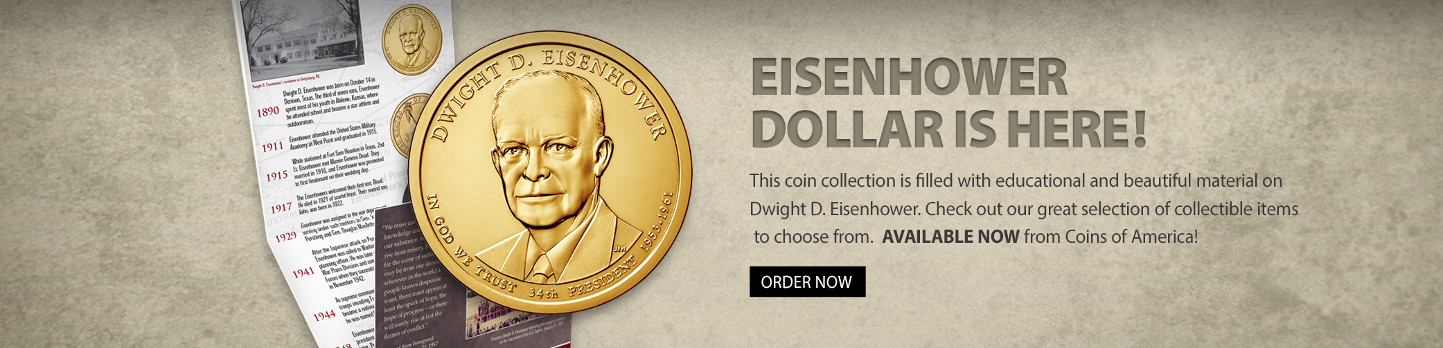 Dwight Eisenhower Dollar Available