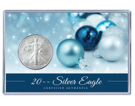 Christmas Silver Eagle Acrylic Display - Blue Theme