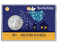 Tooth Fairy Silver Eagle Acrylic Display
