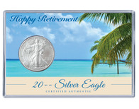 Retirement Silver Eagle Acrylic Display