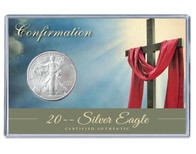 Confirmation Silver Eagle Acrylic Display - Cross