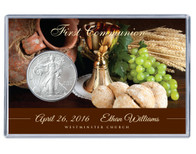 Communion Silver Eagle Acrylic Display - Brown