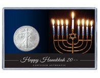 Hanukkah Silver Eagle Acrylic Display