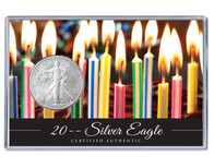 Silver Eagle Birthday Acrylic Display