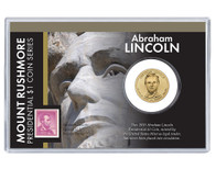 Mt. Rushmore Series: Abraham Lincoln Dollar Coin and Stamp Set