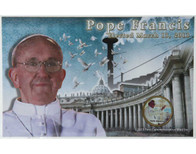Pope Francis Colorized Argentine Peso Commemorative