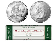 Mount Rushmore National Memorial D Mint Quarter Roll