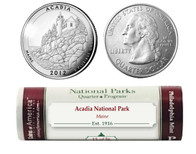 Acadia National Park P Mint Quarter Roll