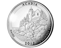 Acadia National Park Quarter P - 2012