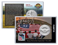 Always Remember 9/11 Flight 93 Coin and Stamp Set