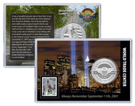 Always Remember 9/11 WTC Coin and Stamp Set